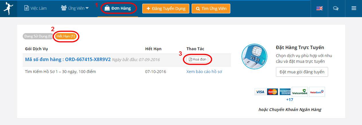E-invoice Expired PO VietnamWorks VIET