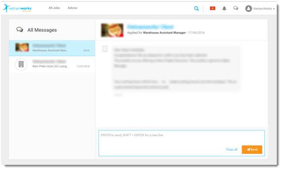 VietnamWorks - New Conversation with Employer
